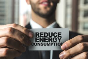 Reduce Energy Consumption sign